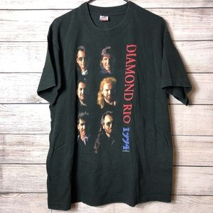 Vintage Diamond Rio Graphic Tour Band Tee USA Made